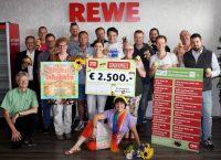Spendenübergabe des REWE-Sonderpreises am 26.07.2016 an Bienen-leben-in-Bamberg.de