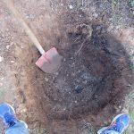 Regensickergrube mit ca. 70 cm Tiefe