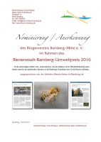 Anerkennungsurkunde an Bürgerverein Bamberg-Mitte e. V.