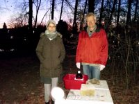 Oxalsäurebehandlung eines Bienenvolkes im Hainpark Bamberg