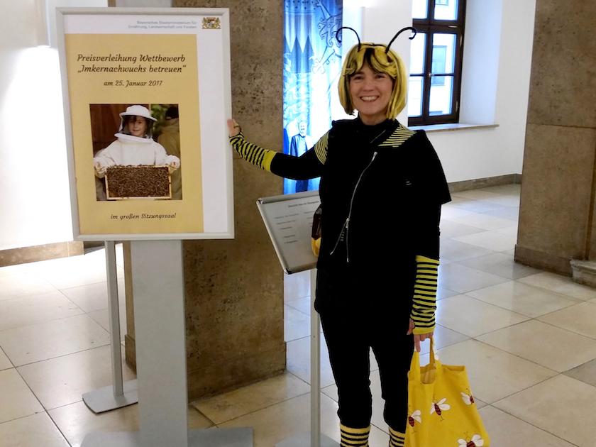 Plakat im Landwirtschaftsministerium in München zur Preisverleihung