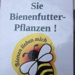Bienenpflanzenfutterschild