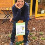 Gastgeberin des Tag der offenen Türe der Bienen-InfoWabe
