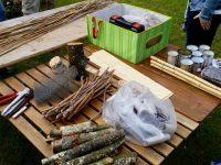 Material für das Wildbienenhotel