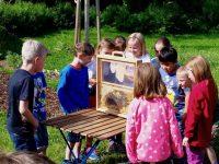 Schülerkreis um Schaufensterbeute