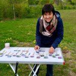 Selbstgestaltete Pflanzstecker, um die Reihenfolge der Einpflanzungen zu erleichtern