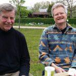Herbert Beck, 1. Vorsitzender Imkerverein Scheßlitz und Umgebung, mit Reinhold Burger