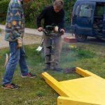 Aufbau Wildbienenhotel