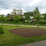 Blühwiesenareal, fertig vorbereitet
