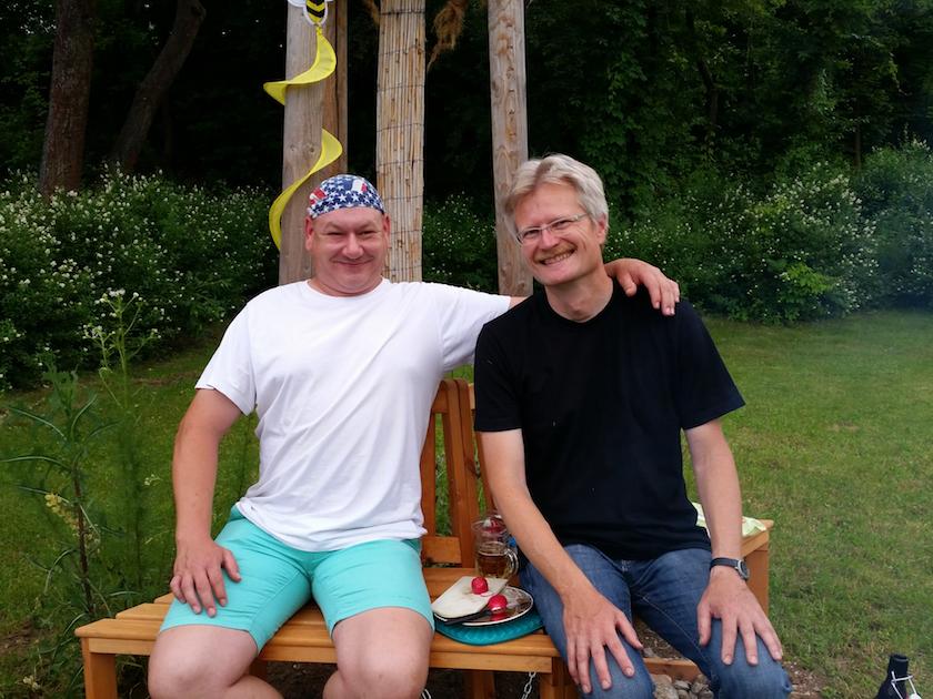 Gartennachbar Ralf und Reinhold