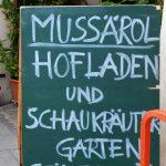 Mussärol Hofladen und Schaukräutergarten Bamberg, Bio-kräutergärtnerei
