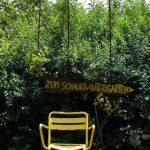 Wegweisung zum Schaugarten