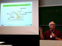 Folie Populationsentwicklung aus Vortrag Dr. Stefan Berg zum Stand der Varroa