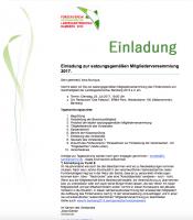 Einladung zur Jahreshauptversammlung (Mitgliederversammlung) des Fördervereins zur Nachhaltigkeit der Landesgartenschau Bamberg 2012 e. V.