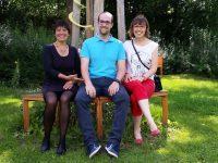 Bienenpate Patrick Fuchs mit Gattin Kathleen (rechts)