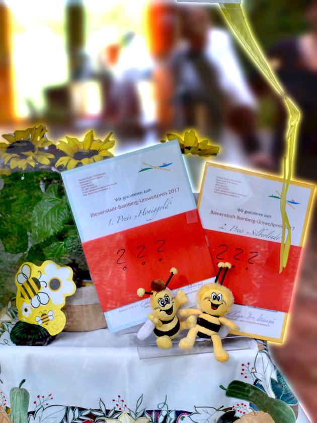 Wer sind die Gewinner des Bienenstadt-Bamberg-Umweltpreises?