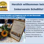 Screenshot vom Webeintrag des Imkervereins Scheßlitz zum Gewinn des Bienenstadt-Bamberg-Umweltpreises 2017