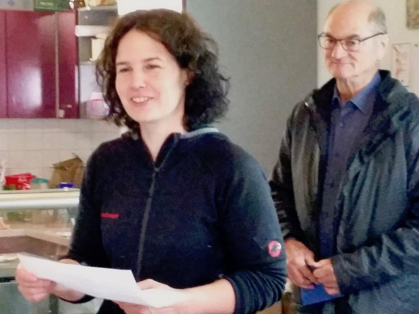 Kreisfachberaterin Alexandra Klemisch, 2. Vorsitzender Kreisverband Bamberg für Gartenbau und Landespflege Vitus Beck