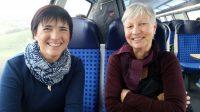 Ilona und Gabi auf dem Weg nach Würzburg