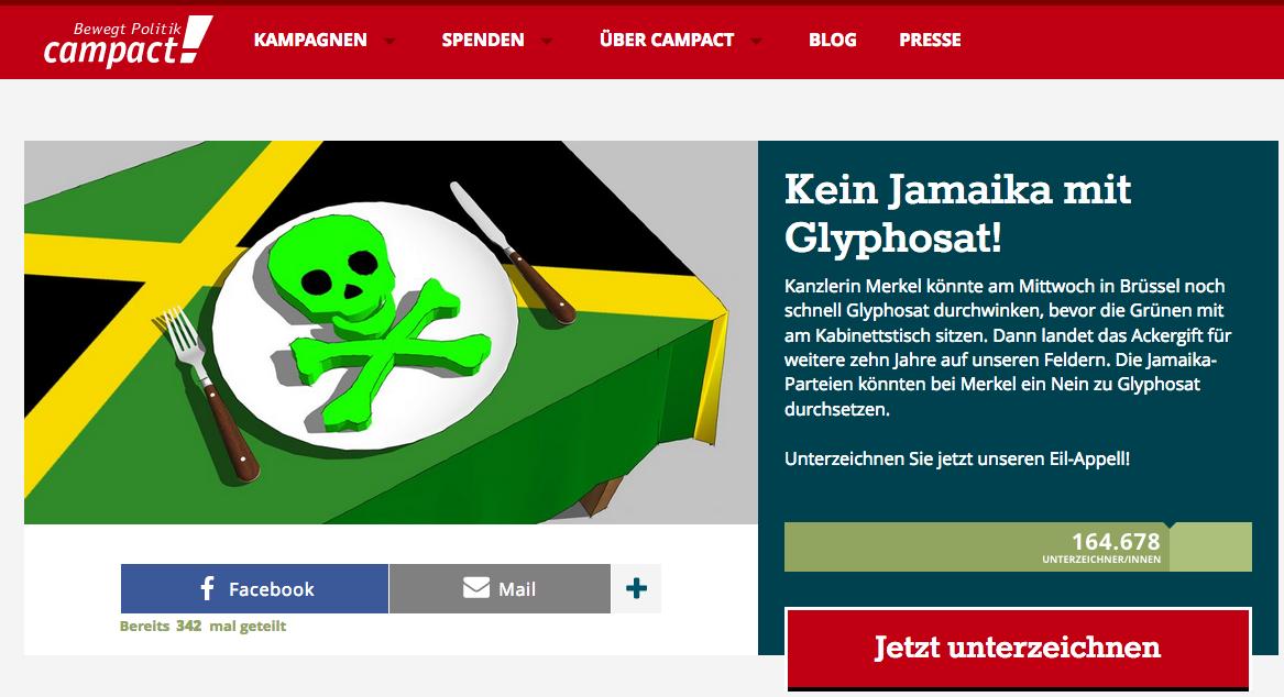 Campact-Appell Glyphosat
