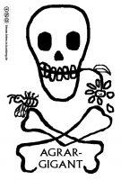 Totenkopf mit Biene und Blume