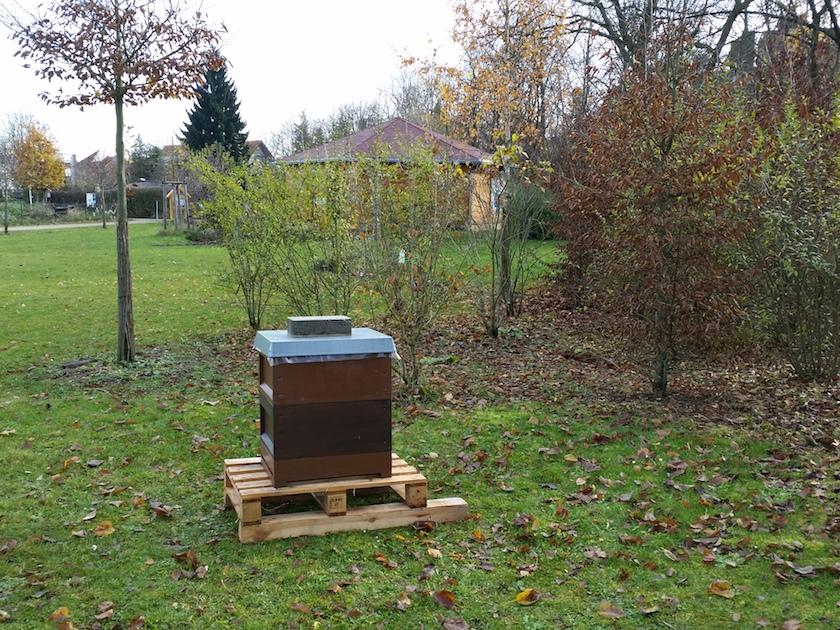 Lehrbienenstand, Standort Erba-Park, Bienenweg