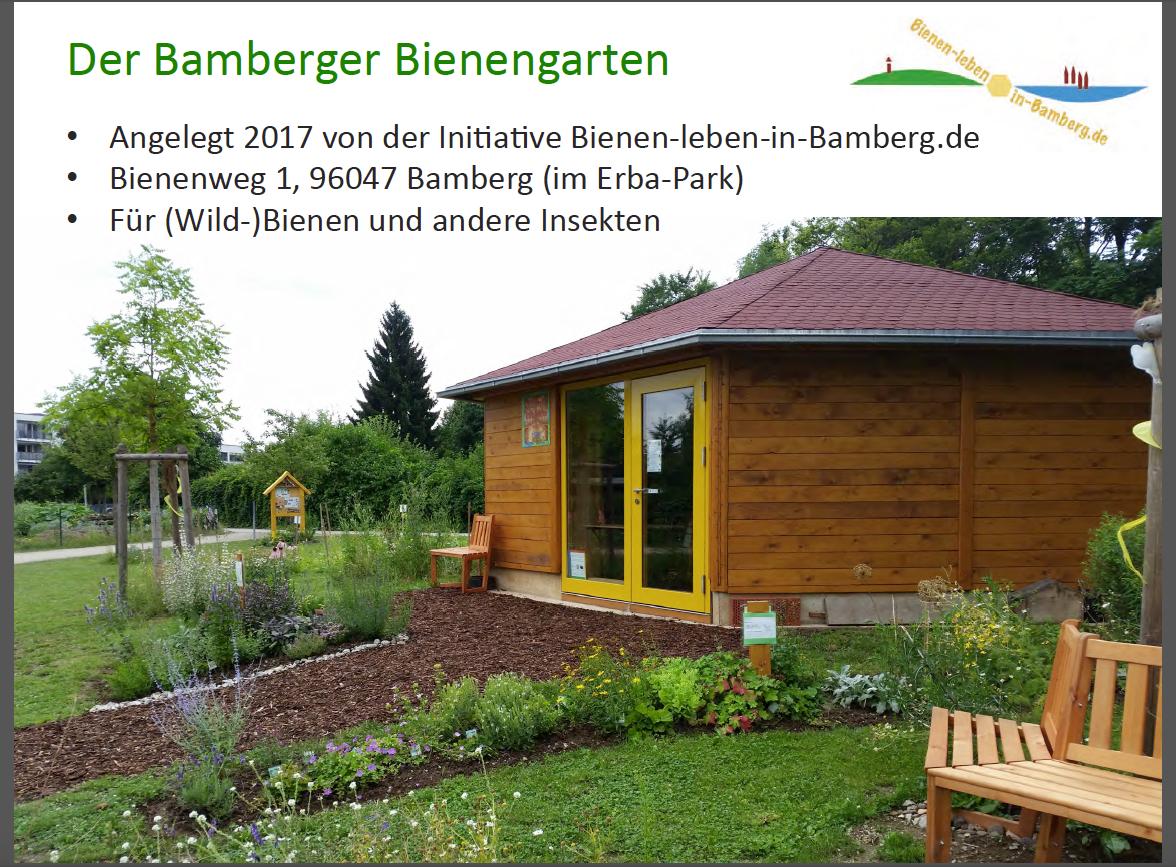 """Einstiegsfolie zum Vortrag """"Der Bamberger Bienengarten"""""""