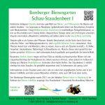 Tafel zum Schau-Staudenbeet 1 im Bamberger Bienengarten