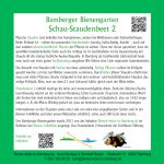 Infotafel zum Schau-Staudenbeet 2 des Bamberger Bienengartens, Bienenweg 1