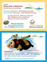 Visitenkarte beidseitig, Bienen-leben-in-Bamberg.de und Bamberger Schulbiene