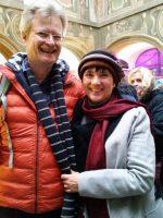 Reinhold und Ilona von Bienen-leben-in-Bamberg.de auf dem Don-Bosco-Weihnachtsmarkt 2017