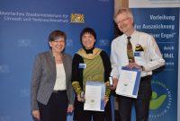Regierungspräsidentin Heidrun Piwernetz, Grüne Engel Ilona Munique und Reinhold Burger