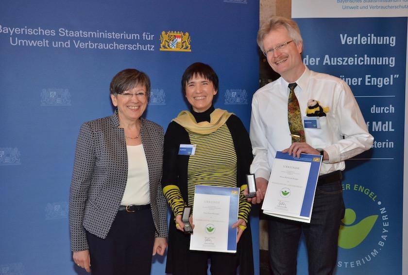 Regierungspräsidentin Ingeborg Piwernetz, Grüne Engel Ilona Munique und Reinhold Burger