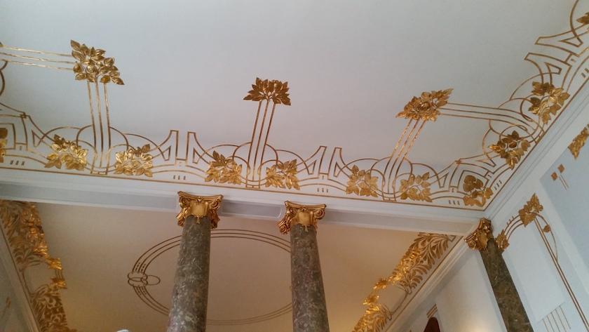 Decke des Landratssaals im Präsidialbau der Regierung von Oberfranken