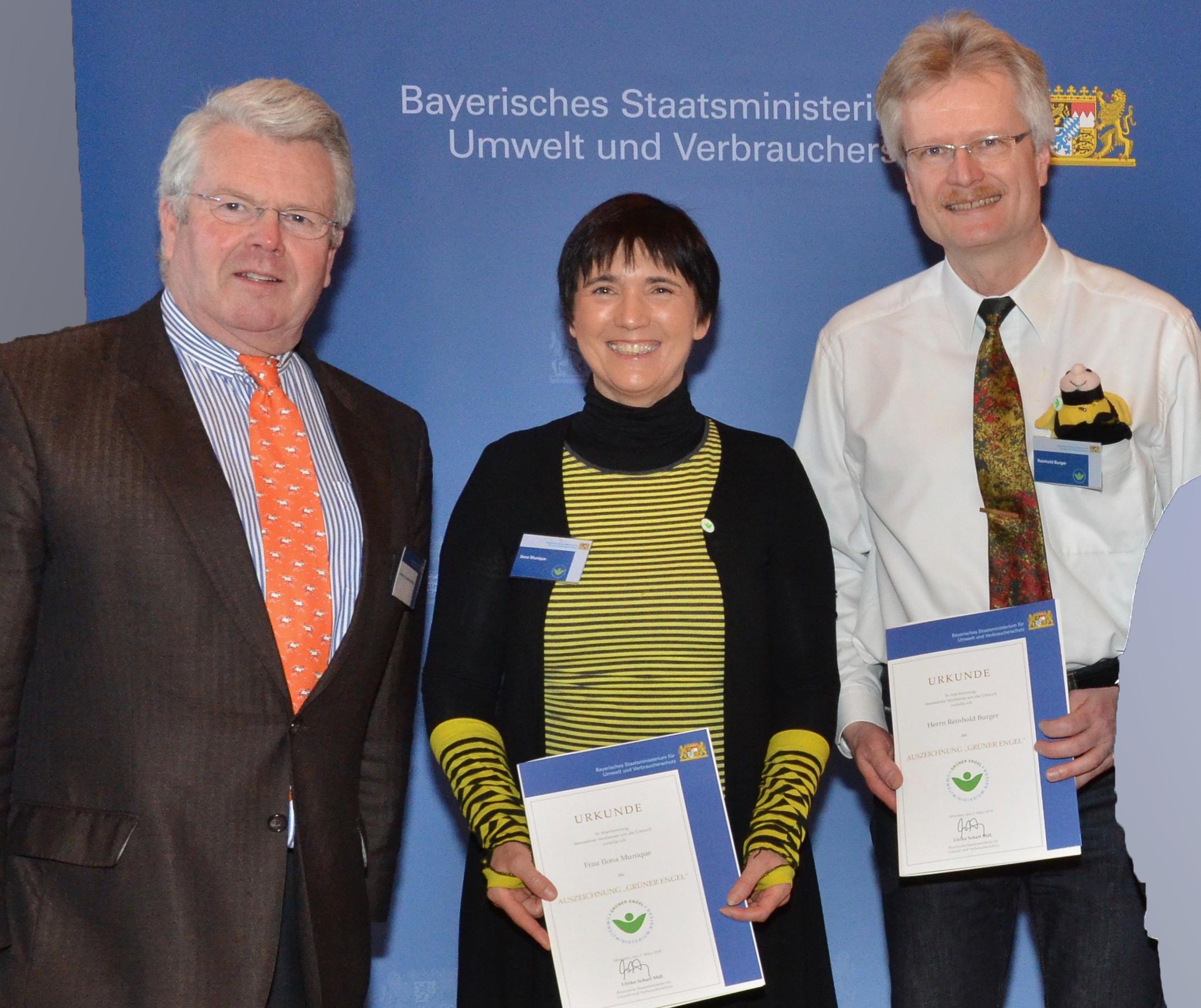 MdL Ludwig Frhr von Lerchenfeld, Ilona Munique und Reinhold Burger