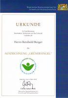 Urkunde Grüner Engel, Reinhold Burger