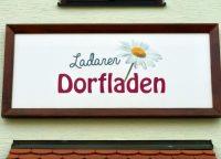 Ladenschild des Ladarer Dorfladen Unterleinleiter