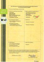 Beispiel eines BIO-Zertifikats