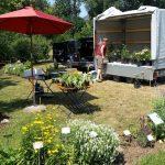 Vorbereitung der Rosen- und Staudenmesse