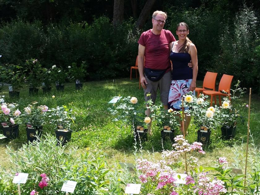 Frank Gagel und Jeannette Frank zur Rosen- und Staudenmesse