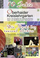 Programm zur 10-Jahres-Feier Oberhaider Kreislehrgarten
