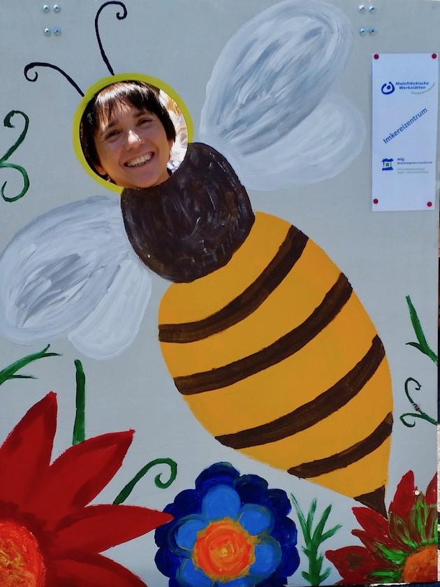 Bienenstellwand dem Gelände der LWG