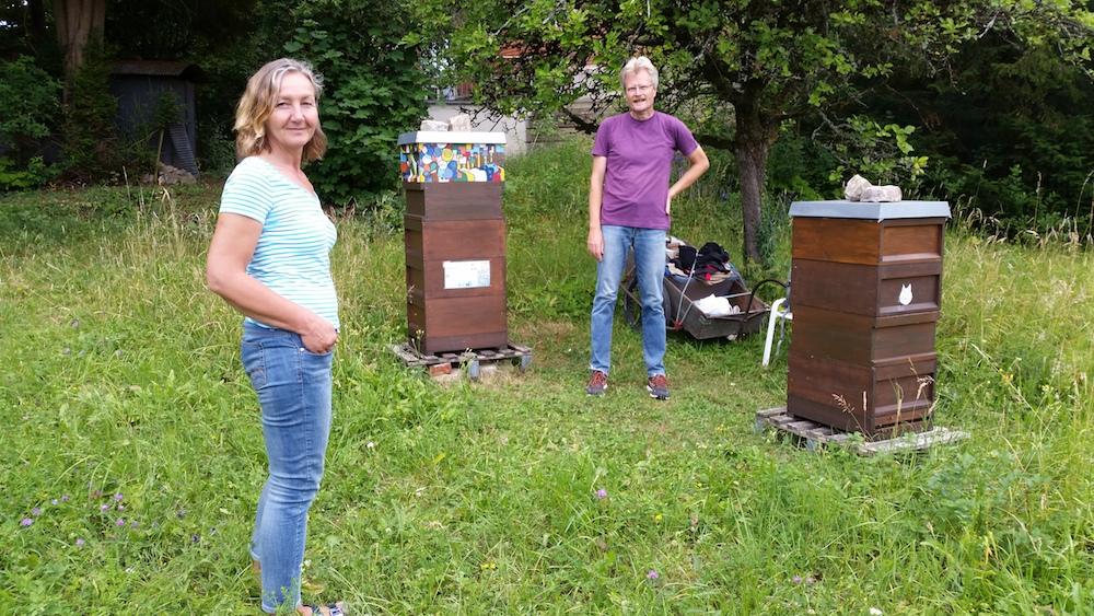 Iris Fischer besucht unsere Sternwart-Bienen