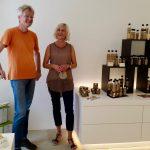 Reinhold und Frau Linz im Stiftsladen am Michaelsberg