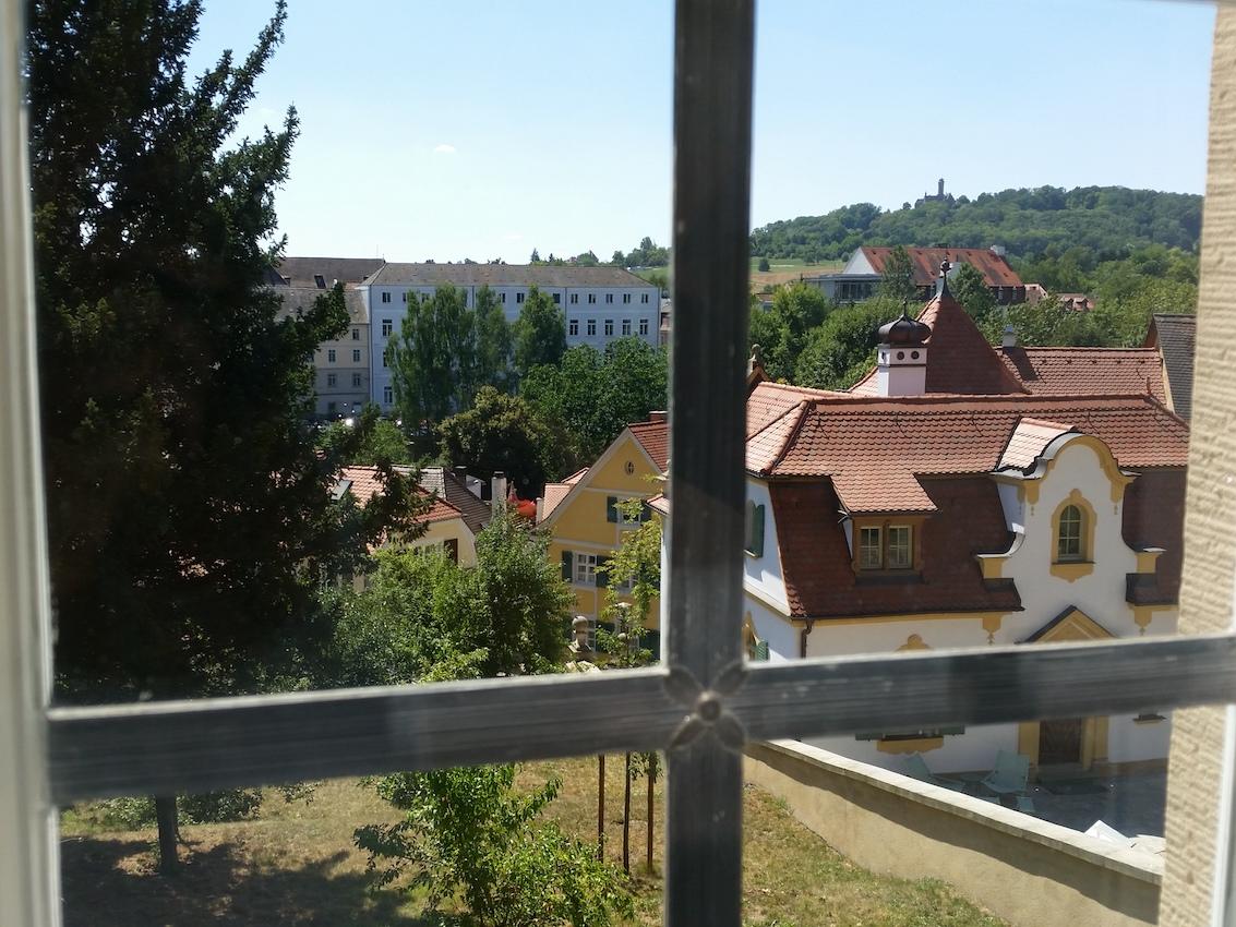 Ausblick aus dem Stiftsladen Richtung Süden / Altenberg