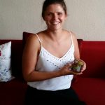 Präsentation des Bamberger Lagenhonigs durch Anja