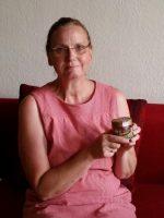 Präsentation des Bamberger Lagenhonigs durch Gabi