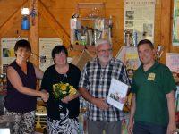 IV Scheßlitz-Vorstand Michael Koslowski überreicht Anerkennungspreis Bienenstadt-Bamberg-Umweltpreis 2018