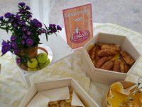 Sponsoring von Lecker-Bäcker Thomas Loskarn anlässlich Abgeordnetenbesuchs Badum / Ebner