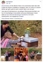 Facebook-Posting zur Bienenpatenschaft und zum Besuch von Lisa Badum mit Harald Ebner